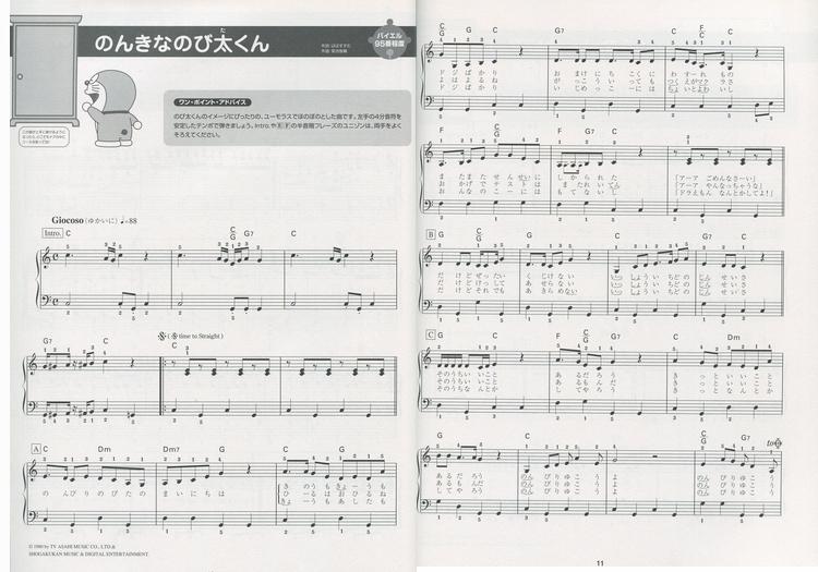 6817 日本进口DOREMI 多啦A梦钢琴演奏乐谱