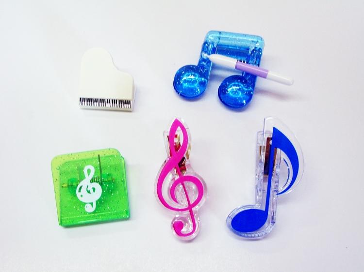 八分音符夹、高音谱号夹、 中型 琴谱,音乐谱,钢琴谱,乐器谱